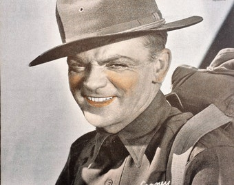 James Cagney Vintage Sepia 6x8 Photographic Print