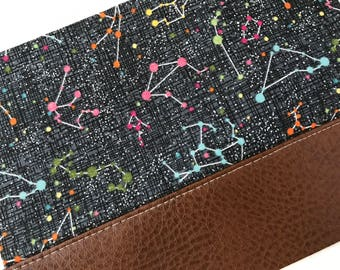 Colorful Constellations Clutch with Faux Leather