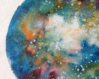 Crab Galaxy, Watercolour Abstract Art, Universe, Home Decor, Wall Decor, Room Decor,Hubble Telescope Inspired Art,Nebula Clusters Art