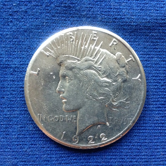 1922 S Silver Peace Dollar, 90% Silver Old US Coin, Old Coins for Coin Collecting and Investing, Brilliant AU Luster