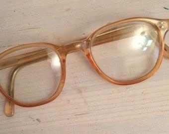 Pale yellow/pastel vintage 1960s glasses