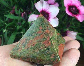 Unakite Crystal Pyramid (90g)