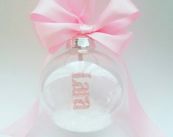 Personalised Christmas Bauble- shatterproof- childsafe