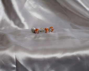 Orange and White Floral Charm
