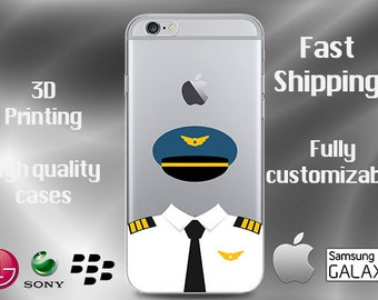 Airline Pilot Cell Case,  Cell Case, Airforce Case,  Pilot iPhone7 Plus Case, Airline S6 Edge case, Pilot iPhone 6 case, Pilot iPhone 6s
