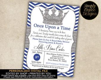 Little Prince Baby Shower Invitation