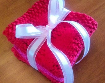 Valentine's Day Dishcloths- Set of Three