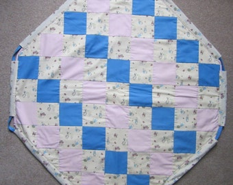 Quilted Octagonal Play Mat and Toy Sack