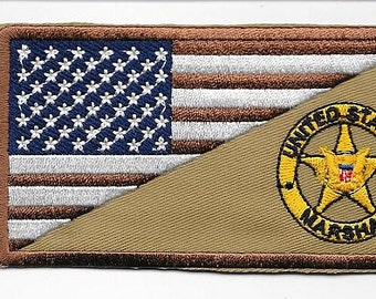 US Marshal Iraq & Afghanistan United States Marshal War on Terrorism Gold Star Shoulder Patch