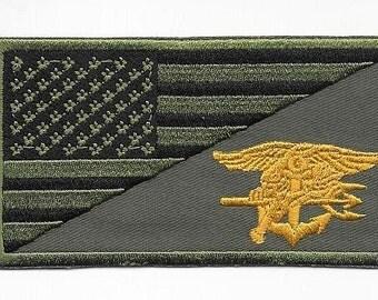 US Navy USN Navy Seal Vietnam era  Navy Seal Team acu Subdued Patch  VELCRO
