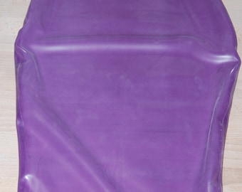 Lilac Translucent Latex Pencil Skirt