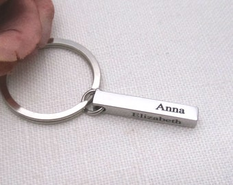 Personalized Key chain...custom engraved Key ring, Best friend, Groomsmen gift, Bridesmaid gift