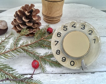 Vintage Phone Disk, Rotating Disc, Retro Part of Phone from 1970s, Retro Phone Accessory, Gift Idea