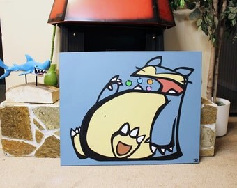 "Snoresnacks! 24"" x 30"" Handpainted canvas!"