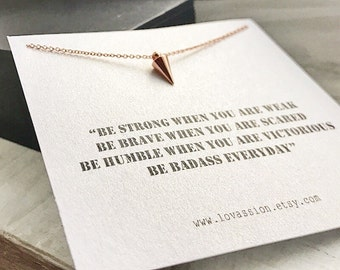 Tiny Stud Necklace, Rose gold stud  necklace, tiny necklace, rose gold jewelry