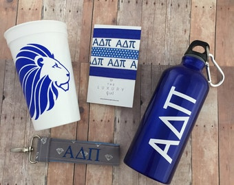Alpha Delta Pi Bid Day Bag; ADPi Gift Bag; Alpha Delta Pi Accessories; ΑΔΠ Sorority Bid Day; APi Big Little; ADPi Cup, Hair Ties, Key Chain