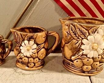 Measuring Cups, Japan Measuring Cups, Vintage Measuring Cups, Daisy Measuring Cups, Mixed Fruit Measuring Cups