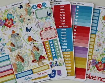 FAIRY TALES Planner Stickers | Ala Carte and Complete Kit | perfect for VERTICAL Erin Condren Life Planner | L57A-F