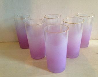 6 Vintage Purple gradient glasses