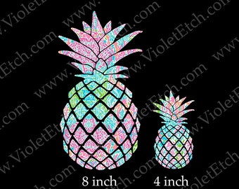 Pineapple Decal-Yeti Cup Decal-Window Decal-Patterned Pineapple Decal-Phone Decal