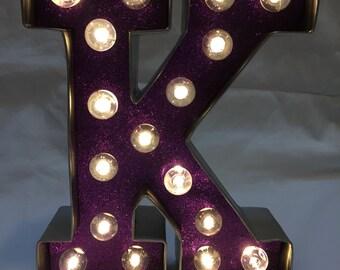 Marquee Letter Light - K