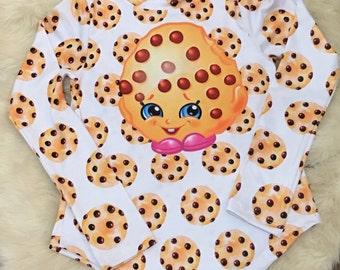 Shopkins cookie girl t-shirt tee kids