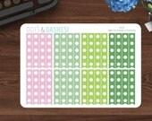 Checklist flags, Erin Condren checklist, checklist stickers, -Sweet Succulents, SS06