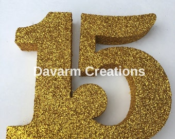 15 Number Styrofoam Quinceanera XV Party,Quinceanera Party Decorations,Glitter Number,Sweet 15,Quinceanera Party,15 Birthday,XV Fiesta,Party