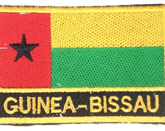 Guinea-bissau Embroidered Sew or Iron on Patch Badge