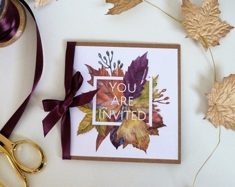 Autumn Leaves Bespoke and Personalised Wedding Invitations