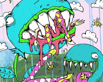 "Fly Trap 36""x24"" Giclee"