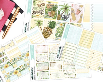 Summer Time Weekly Kit for Happy Planner Planner Stickers