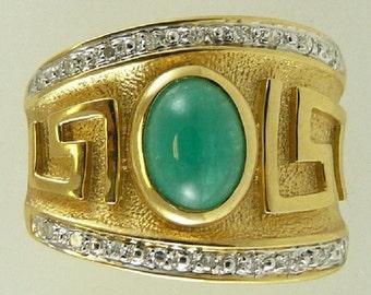 Emerald Pendant 1.63ct 14k Yellow Gold and Diamonds 0.11ct