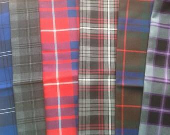 """Mixed Various Tartan Scottish Napkins 17"""" x 17"""" Set of 6 - Set 3"""