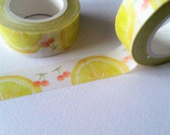 Lemon and Cherry Washi Tape