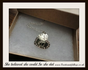 New Version! She believed she could. So she did Necklace
