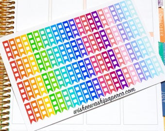 Small Half Box Checklist Stickers - To Do Checklists - Checklist Stickers - To Do Flags - To Do Checklists - Planner Stickers