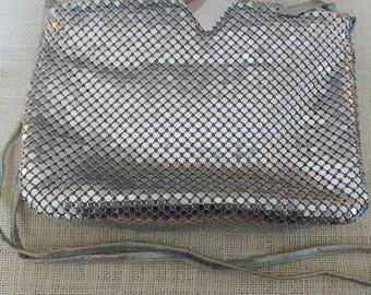 Silver Mesh Evening Bag