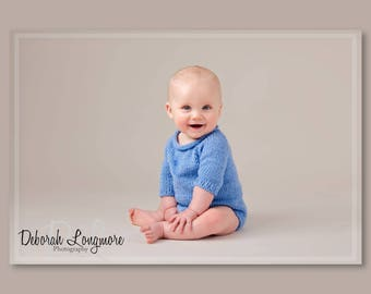 Photography prop romper spring colours sitter size