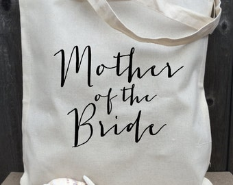 Mother of the Bride Tote Bag, Bridal Tote, Bride Bag, Bridesmaid Tote, Personalized Tote, Bachelorette Tote, Wedding Tote, Wedding Day Tote