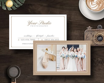Business Card Template, Business Card Design Template for Photographer, Wedding Photographer Business Card  - INSTANT DOWNLOAD BC001
