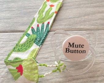 Cactus Pacifier Clip // Cactus Paci Clips // Baby Pacifier Clip // Baby Paci Clip // Pacifier Holder  // Baby Binky Clip // Gifts for Baby