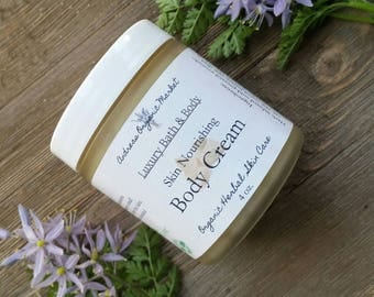 Organic Body Cream, Unscented Body Lotion, Natural Moisturizer, Fragrance Free Body Cream, Fragrance Free Cream, Vegan Moisturizing Cream