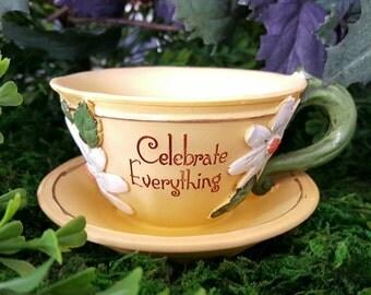 MIniature Teacup Planter - Celebrate Everything