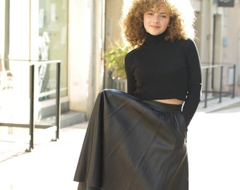 Vintage 70s leather skirt