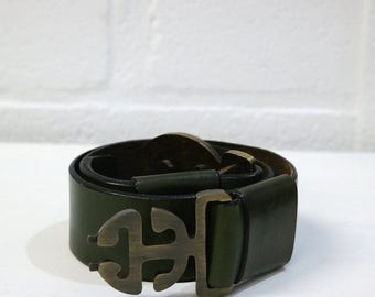 Belt woman aged leather - PULLMAN Made in France