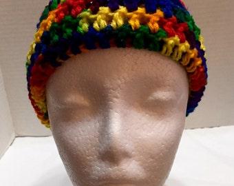 Crochet Child Beanie, Crochet Beanie Hat, Child Hat, Multicolor Beanie