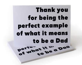 Perfect Example Father's Day Greeting Card