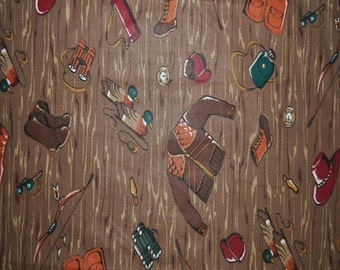 Camping/Hunting Cotton Fabric (By The Yard)