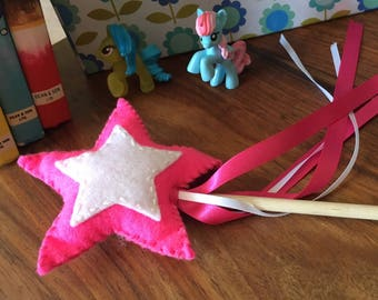 Neon Pink Star Wand